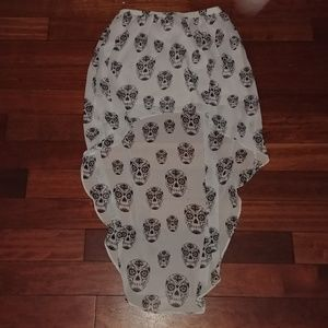 Dresses & Skirts - H&M DIVIDED sugar skull high-low skirt *like new*